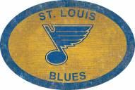 "St. Louis Blues 46"" Team Color Oval Sign"