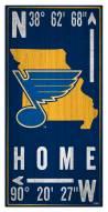"""St. Louis Blues  6"""" x 12"""" Coordinates Sign"""