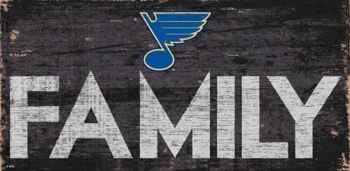 "St. Louis Blues 6"" x 12"" Family Sign"