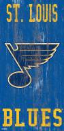 "St. Louis Blues 6"" x 12"" Heritage Logo Sign"