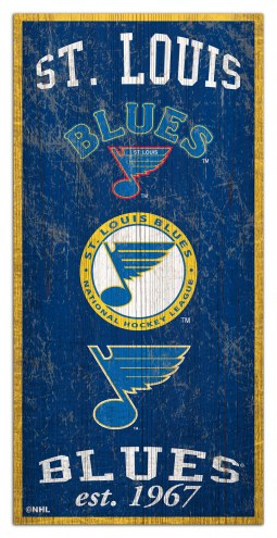 "St. Louis Blues  6"" x 12"" Heritage Sign"