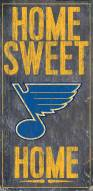 """St. Louis Blues 6"""" x 12"""" Home Sweet Home Sign"""