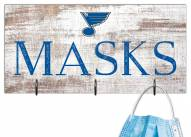 "St. Louis Blues 6"" x 12"" Mask Holder"