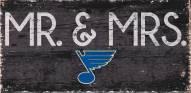 """St. Louis Blues 6"""" x 12"""" Mr. & Mrs. Sign"""