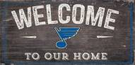 """St. Louis Blues 6"""" x 12"""" Welcome Sign"""