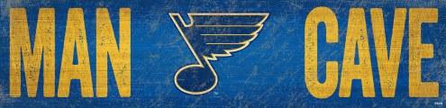 """St. Louis Blues 6"""" x 24"""" Man Cave Sign"""