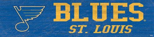 "St. Louis Blues 6"" x 24"" Team Name Sign"