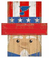 """St. Louis Blues 6"""" x 5"""" Patriotic Head"""