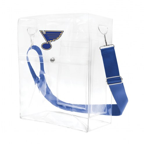 St. Louis Blues Clear Ticket Satchel