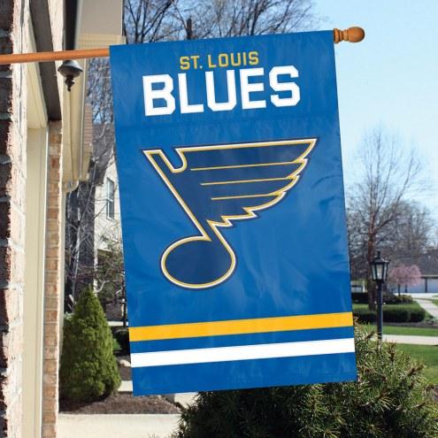 St. Louis Blues Applique Banner Flag