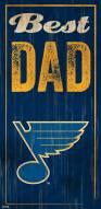 St. Louis Blues Best Dad Sign