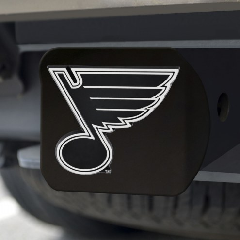 St. Louis Blues Black Matte Hitch Cover