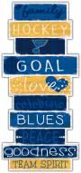 St. Louis Blues Celebrations Stack Sign