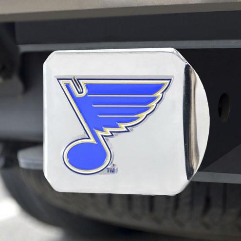 St. Louis Blues Chrome Color Hitch Cover