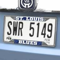 St. Louis Blues Chrome Metal License Plate Frame