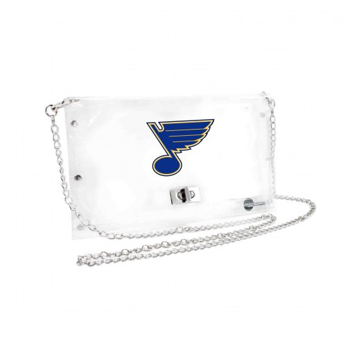 St. Louis Blues Clear Envelope Purse