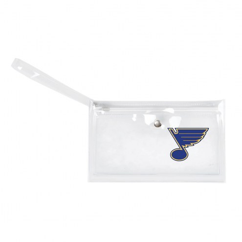 St. Louis Blues Clear Ticket Wristlet
