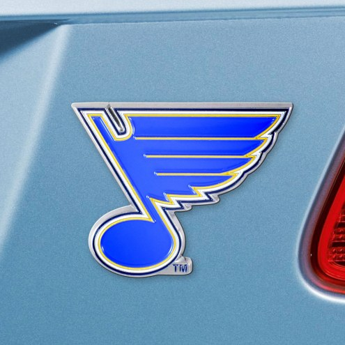 St. Louis Blues Color Car Emblem
