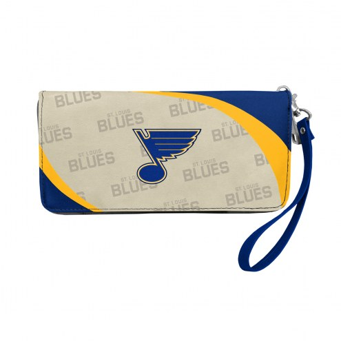 St. Louis Blues Curve Zip Organizer Wallet