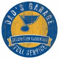 St. Louis Blues Dad's Garage Sign