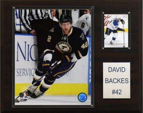 "St. Louis Blues David Backes 12"" x 15"" Player Plaque"
