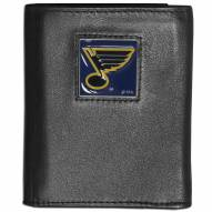 St. Louis Blues Deluxe Leather Tri-fold Wallet in Gift Box