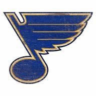 St. Louis Blues Distressed Logo Cutout Sign