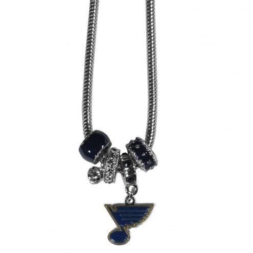 St. Louis Blues Euro Bead Necklace