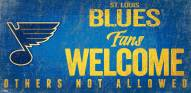 St. Louis Blues Fans Welcome Sign
