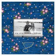 """St. Louis Blues  Floral 10"""" x 10"""" Picture Frame"""