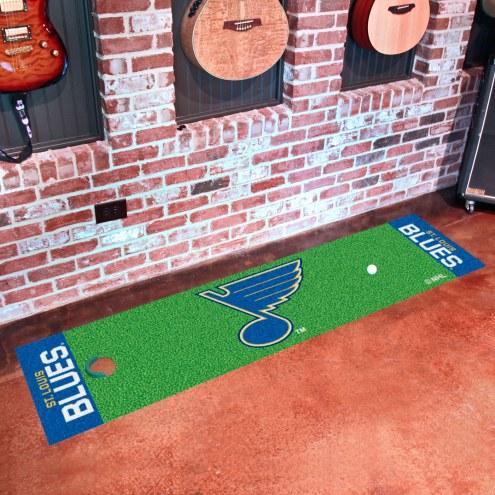 St. Louis Blues Golf Putting Green Mat