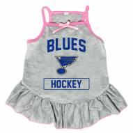 St. Louis Blues Gray Dog Dress