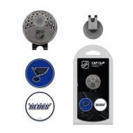 St. Louis Blues Hat Clip & Marker Set