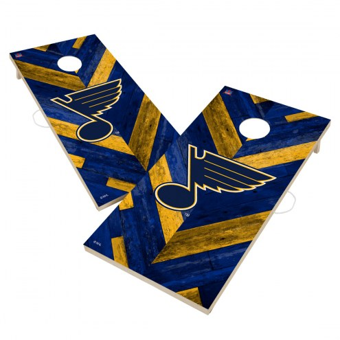 St. Louis Blues Herringbone Cornhole Game Set