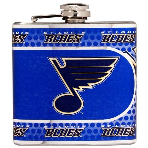 St. Louis Blues Hi-Def Stainless Steel Flask