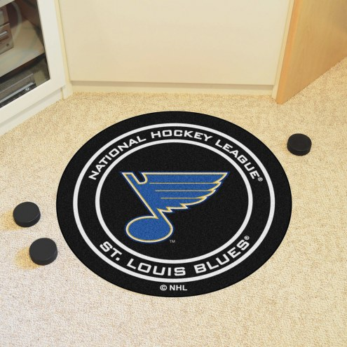 St. Louis Blues Hockey Puck Mat