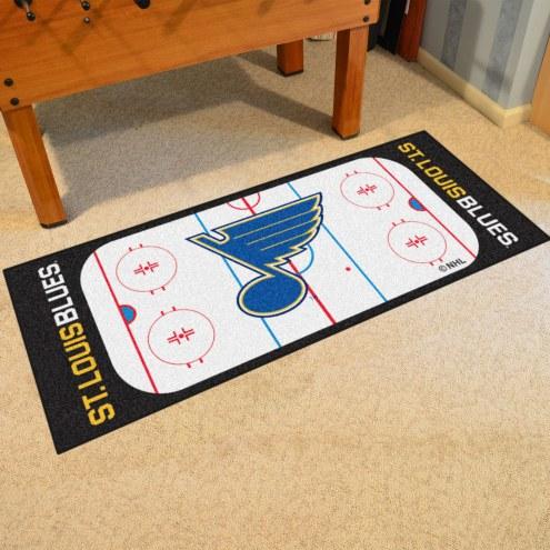 St. Louis Blues Hockey Rink Runner Mat