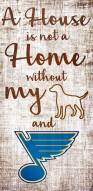 St. Louis Blues House is Not a Home Sign