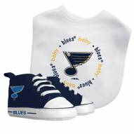 St. Louis Blues Infant Bib & Shoes Gift Set