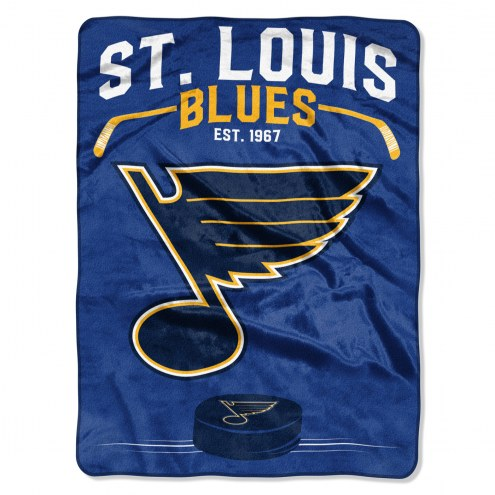St. Louis Blues Inspired Plush Raschel Blanket
