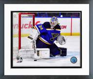 St. Louis Blues Jake Allen Action Framed Photo
