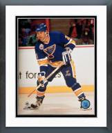 St. Louis Blues Jeff Brown Action Framed Photo