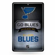 St. Louis Blues Large Embossed Metal Wall Sign