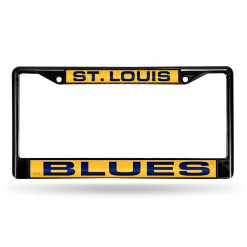 St. Louis Blues Laser Black License Plate Frame
