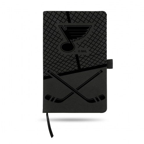 St. Louis Blues Laser Engraved Black Notepad