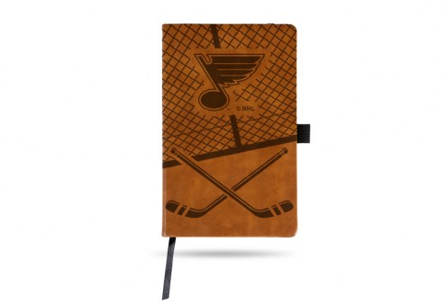 St. Louis Blues Laser Engraved Brown Notepad
