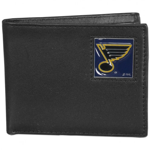 St. Louis Blues Leather Bi-fold Wallet in Gift Box