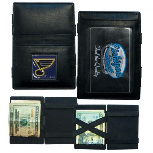 St. Louis Blues Leather Jacob's Ladder Wallet