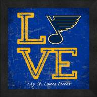St. Louis Blues Love My Team Color Wall Decor
