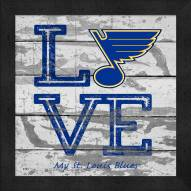 St. Louis Blues Love My Team Square Wall Decor